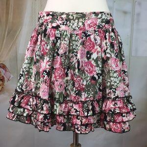 Candies Floral Skater Skirt